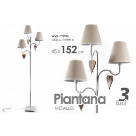 Lampada moderna piantana da terra tortora cm 152 stile shabby