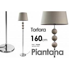 lampada da terra piantana moderna tortora in metallo cm 38 x 38 x 160 h