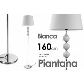 lampada da terra piantana moderna bianca in metallo cm 38 x 38 x 160 h